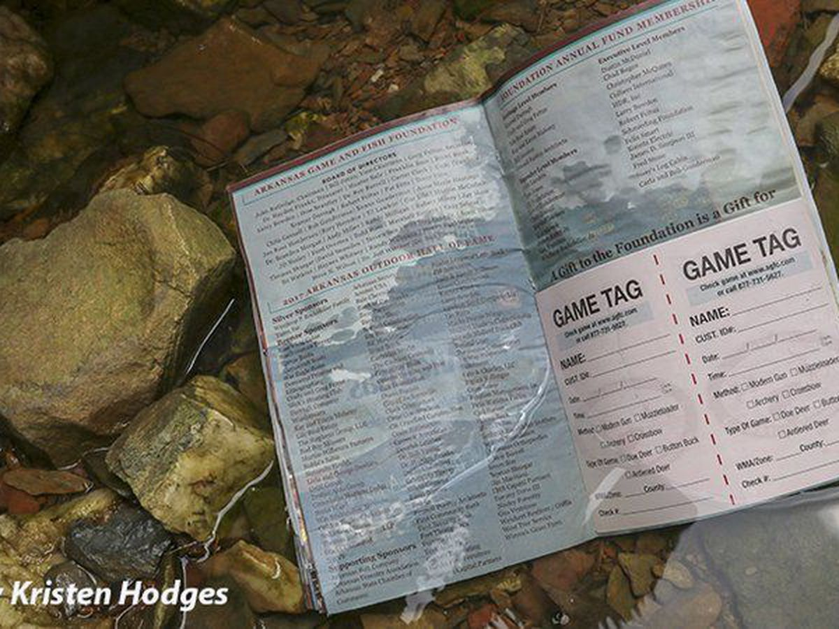 Waterproof game tags available in 2018-19 Arkansas Hunting Guidebook