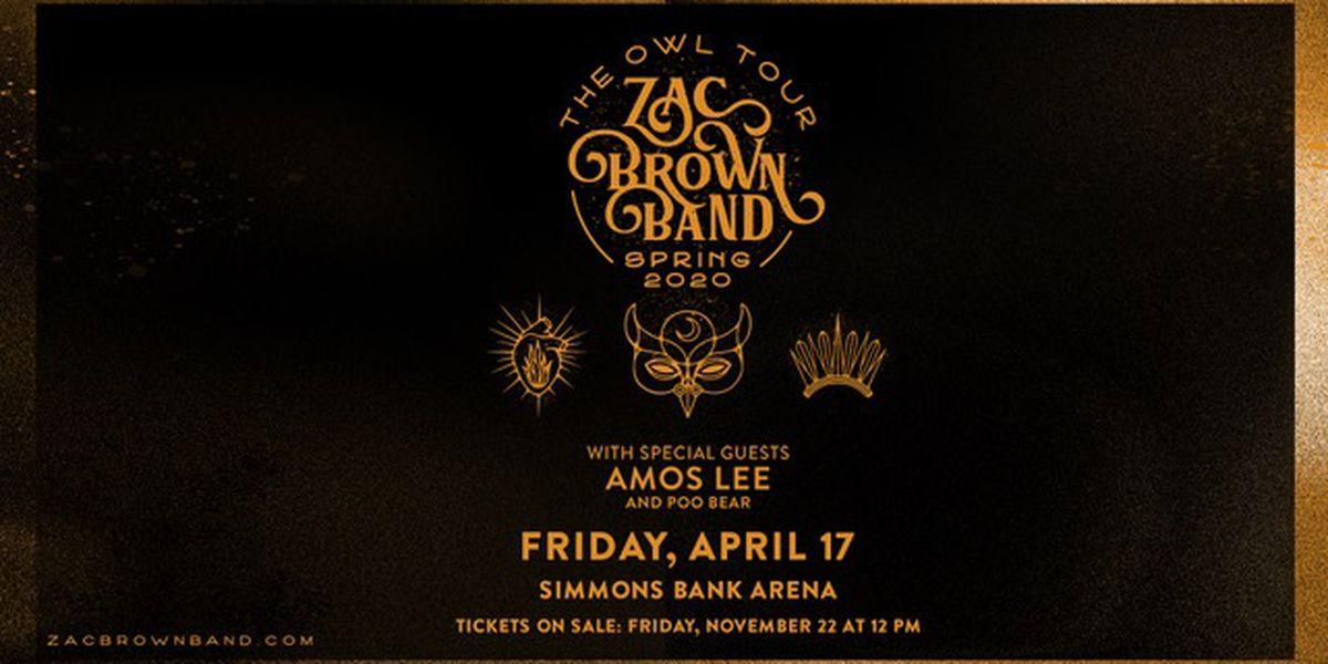 "Zac Brown Band bringing ""Owl Tour"" to Arkansas"