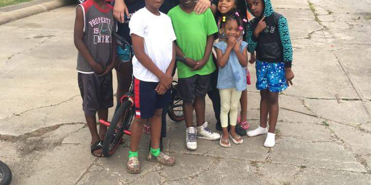 Gosnell officer rides bikes with community kids