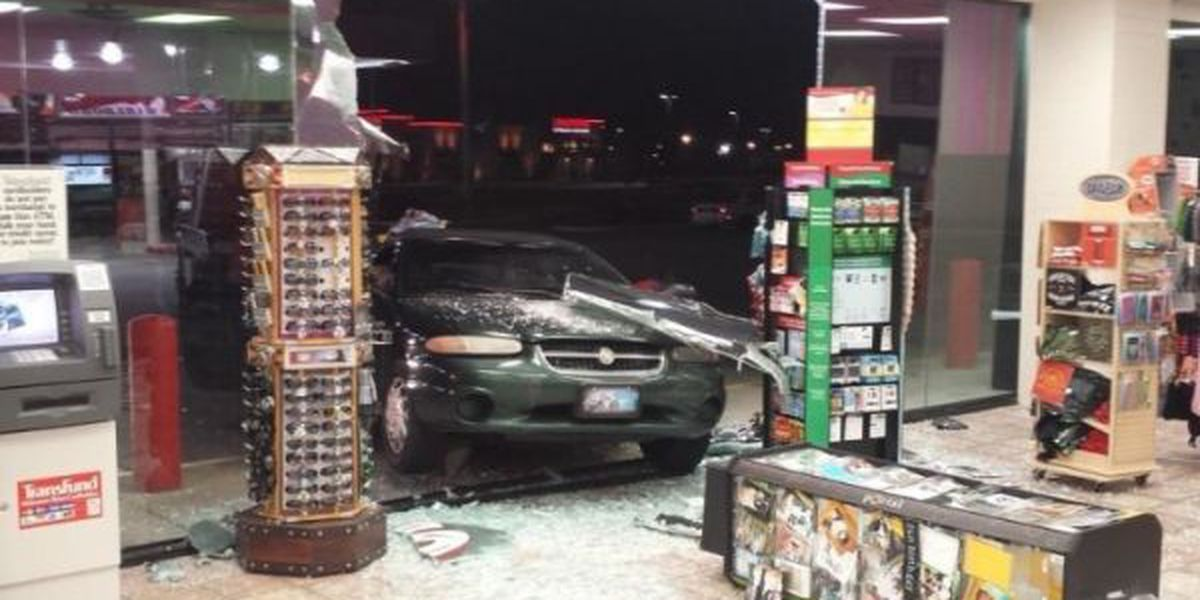 Police: Man having heart attack crashes into store