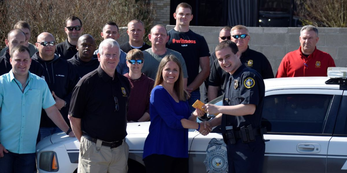 Cadets honor Trumann officer with donation to C.O.P.S
