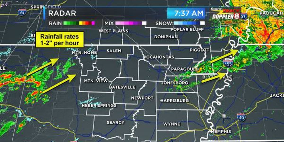 Storms forecast for Northeast Arkansas, Southeast Missouri