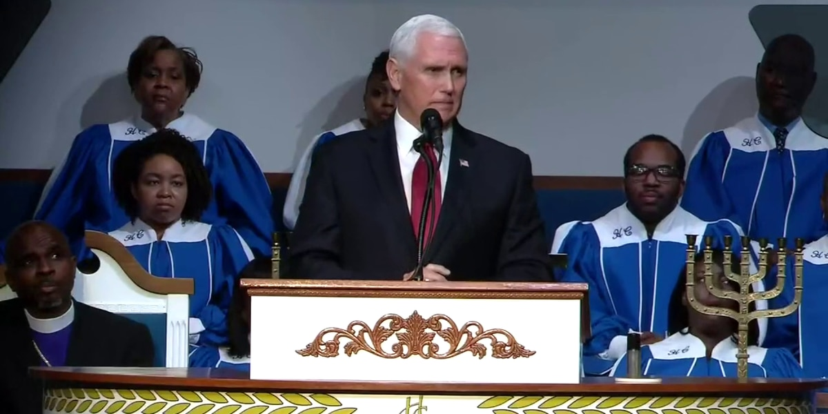 Vice President Pence speaks at Memphis church