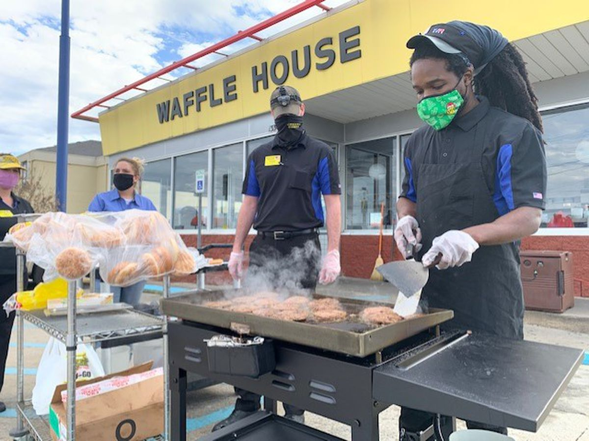 Fultondale Waffle House and Full Moon Bar-B-Que feed community following tornado