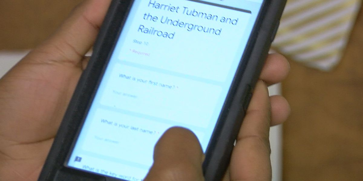 Students create QR code scavenger hunt for Black History Month