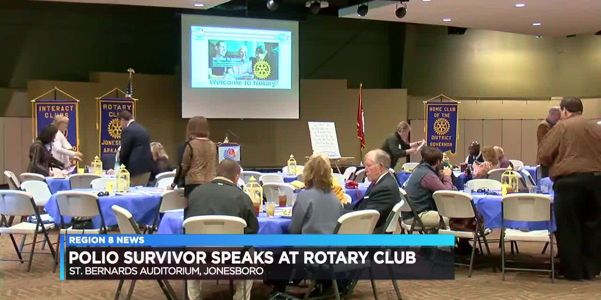 Polio survivor speaks at Rotary Club