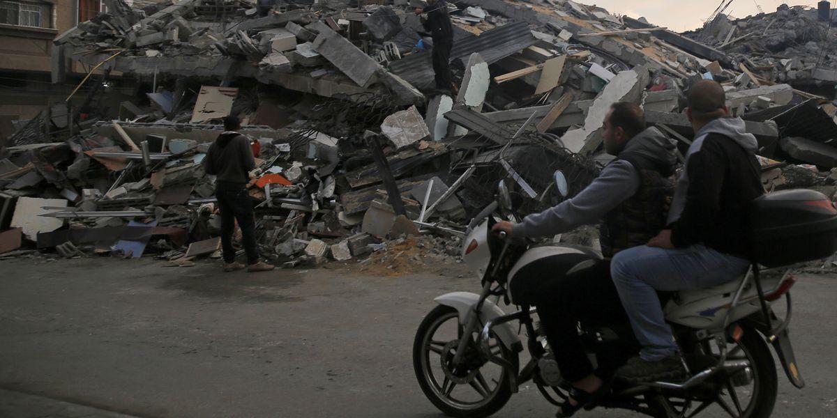 The Latest: Group says strikes damaged dozens of Gaza homes