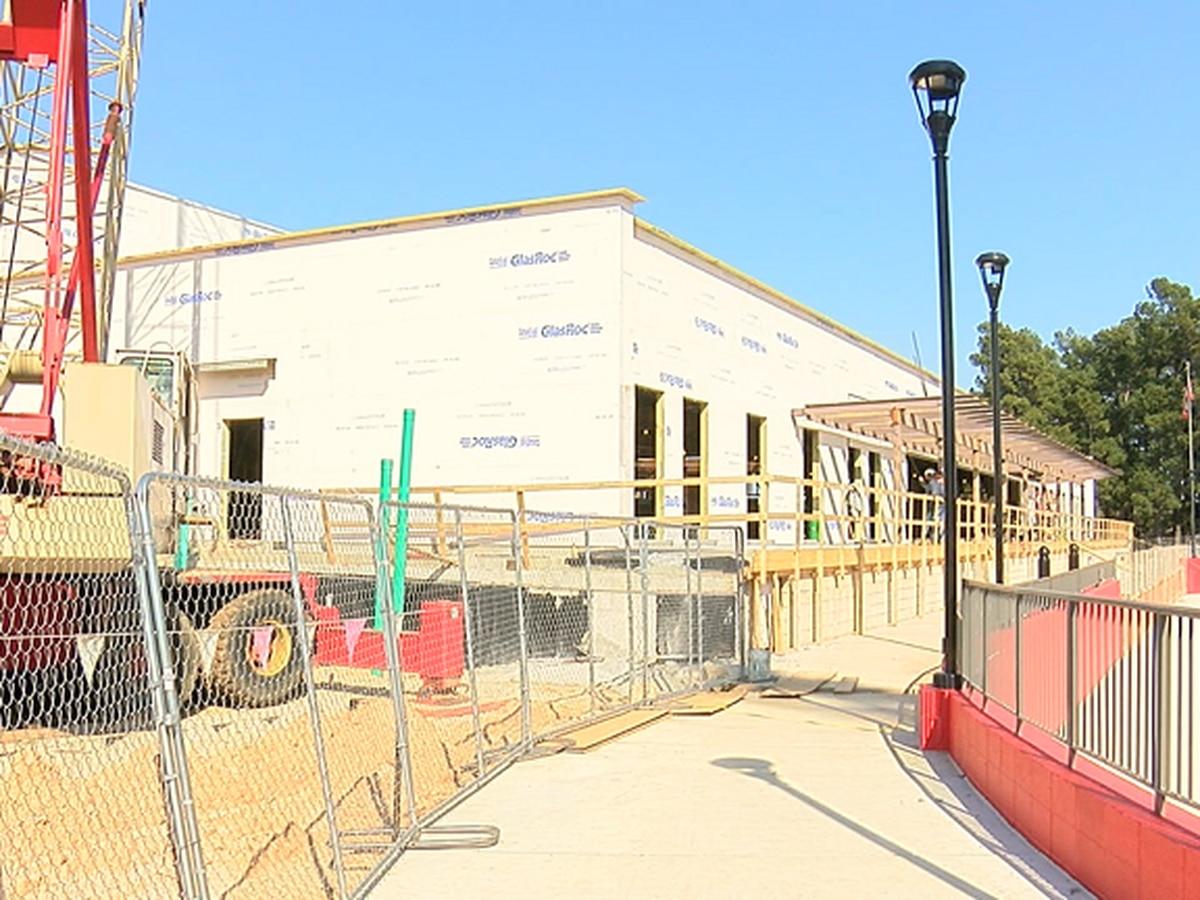 Arkansas State football operations building taking shape
