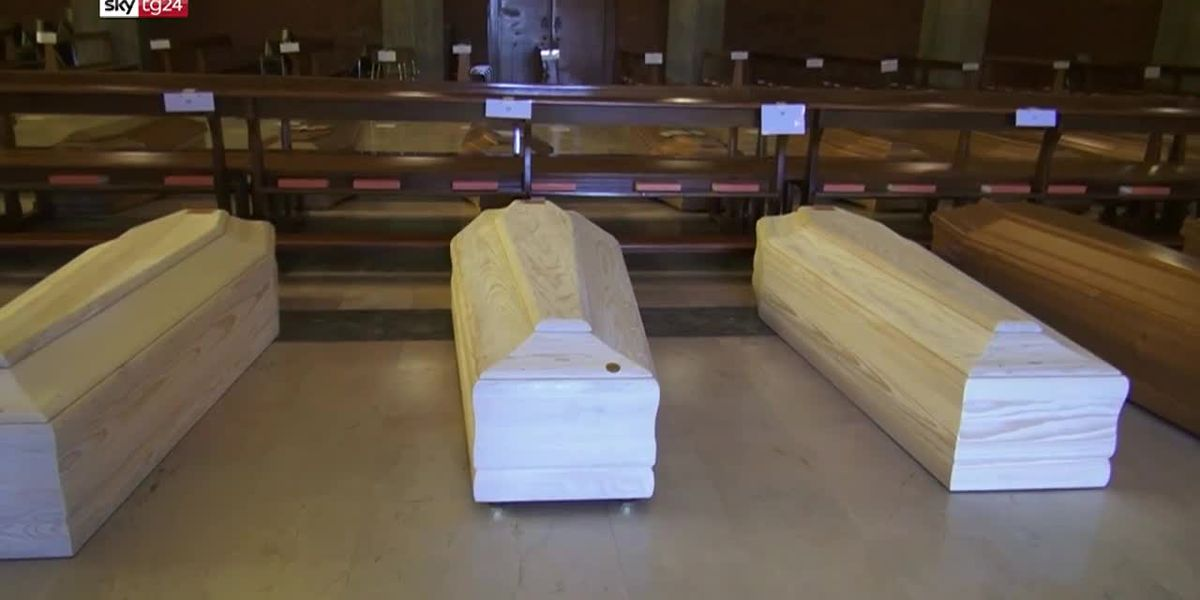 Church in Italy being used as makeshift cemetery for up to 80 coffins