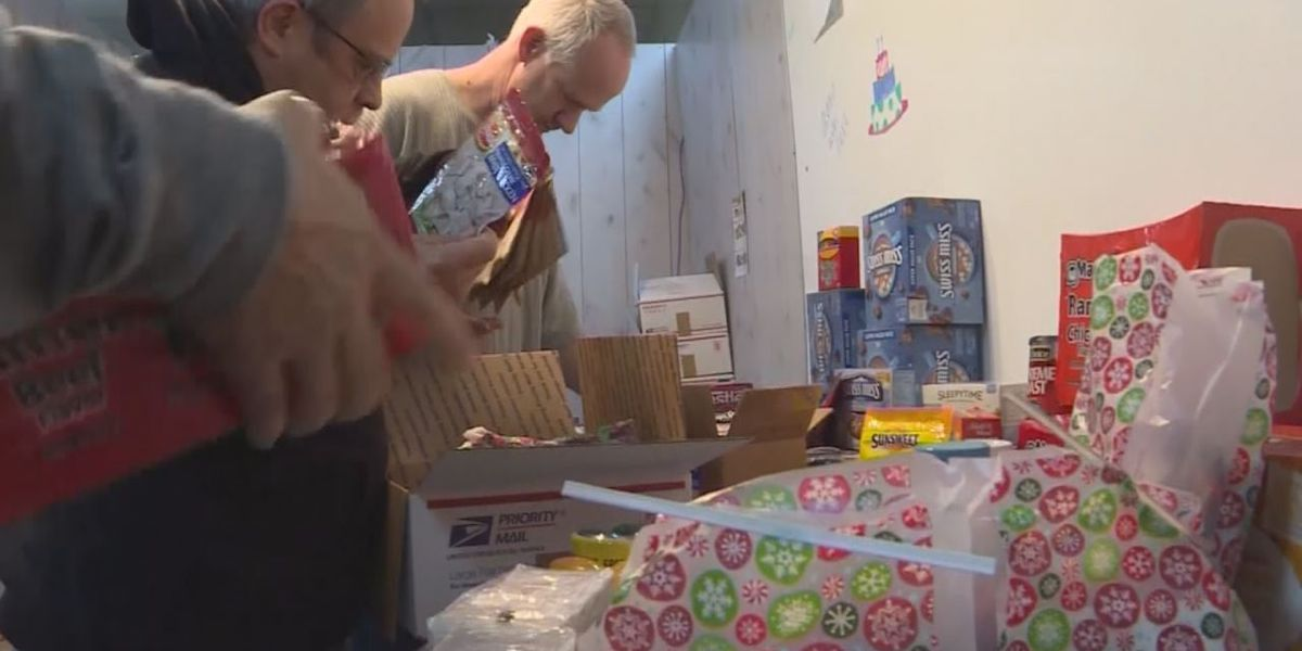 Business donating food, items and cards to soldiers overseas