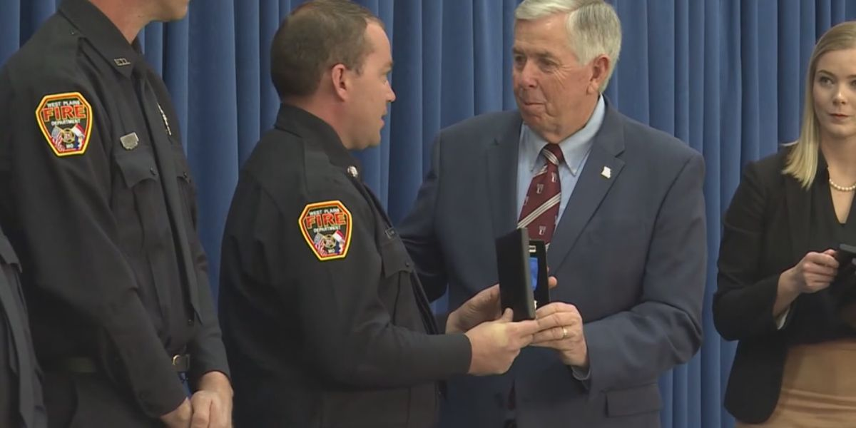 Firefighters, former fire chief honored by Governor