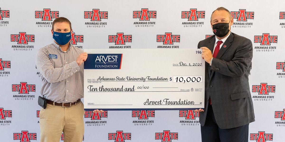 Arvest Foundation donates $10,000 to help keep A-State students enrolled
