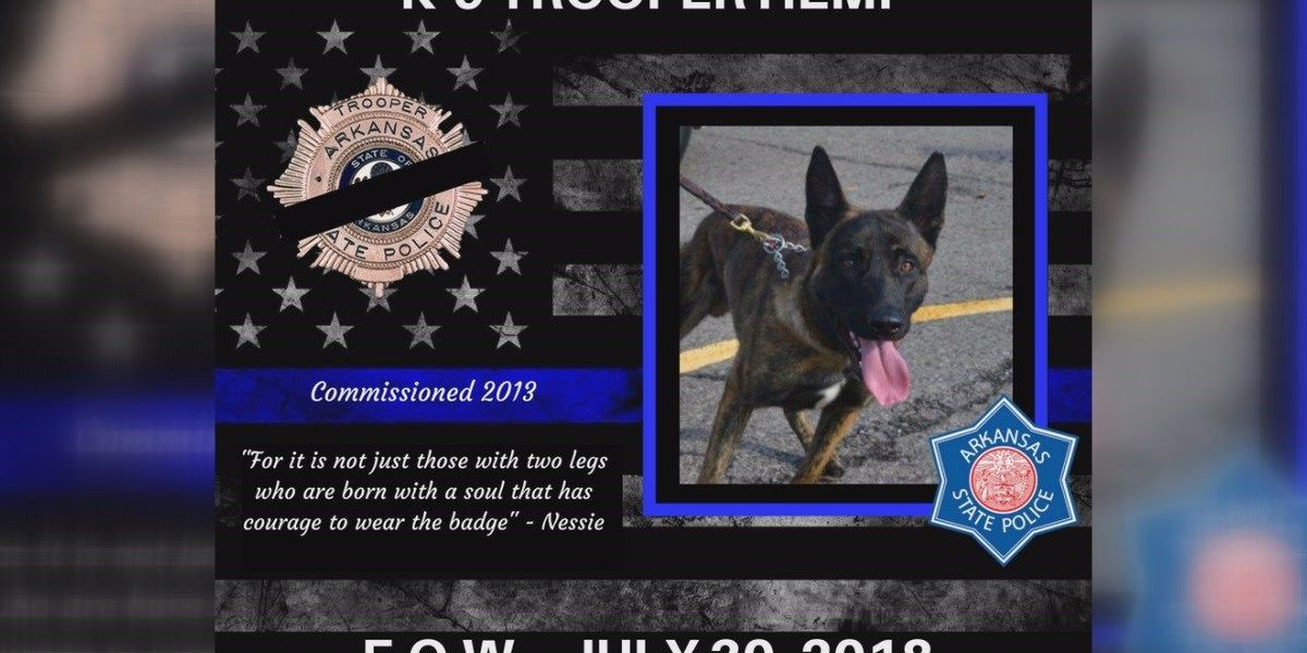 Northeast Arkansas mourning tragic loss of Trooper K9 Hemi
