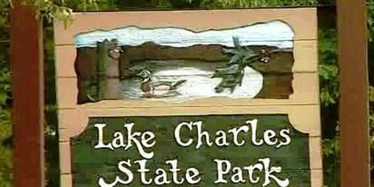 Beach closed at Lake Charles State Park