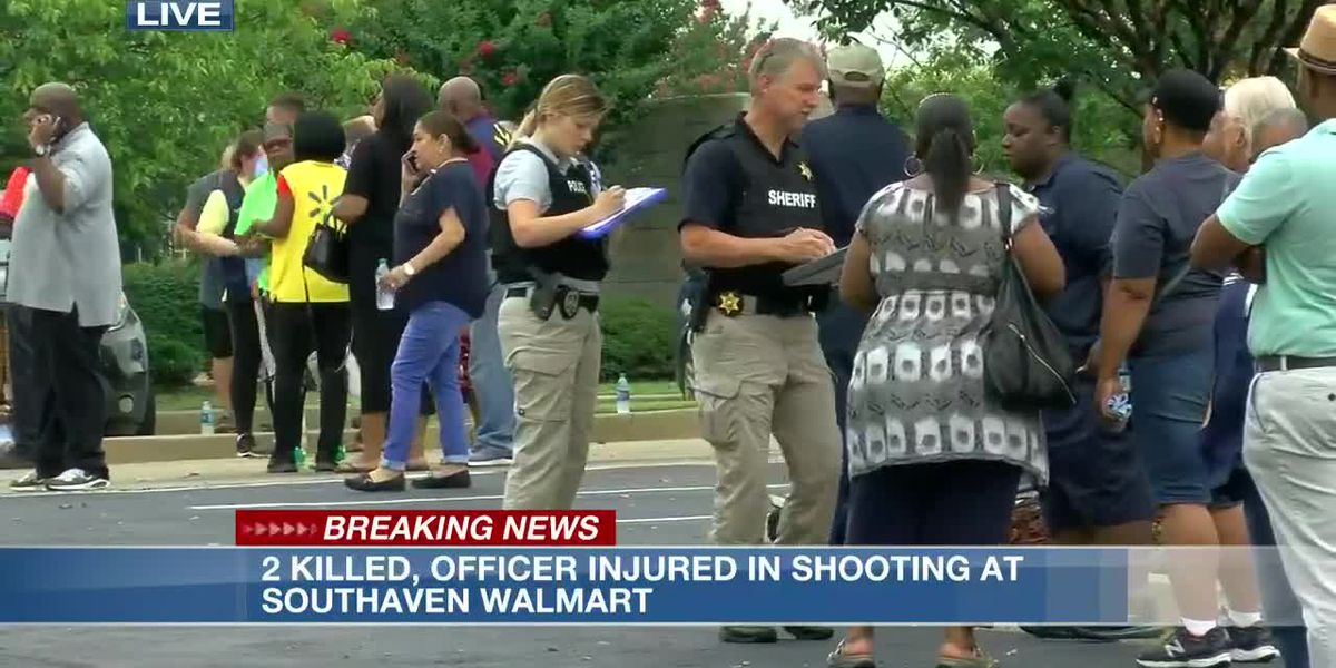 2 killed, officer wounded in shooting at Southaven, Miss. Walmart; suspect in custody