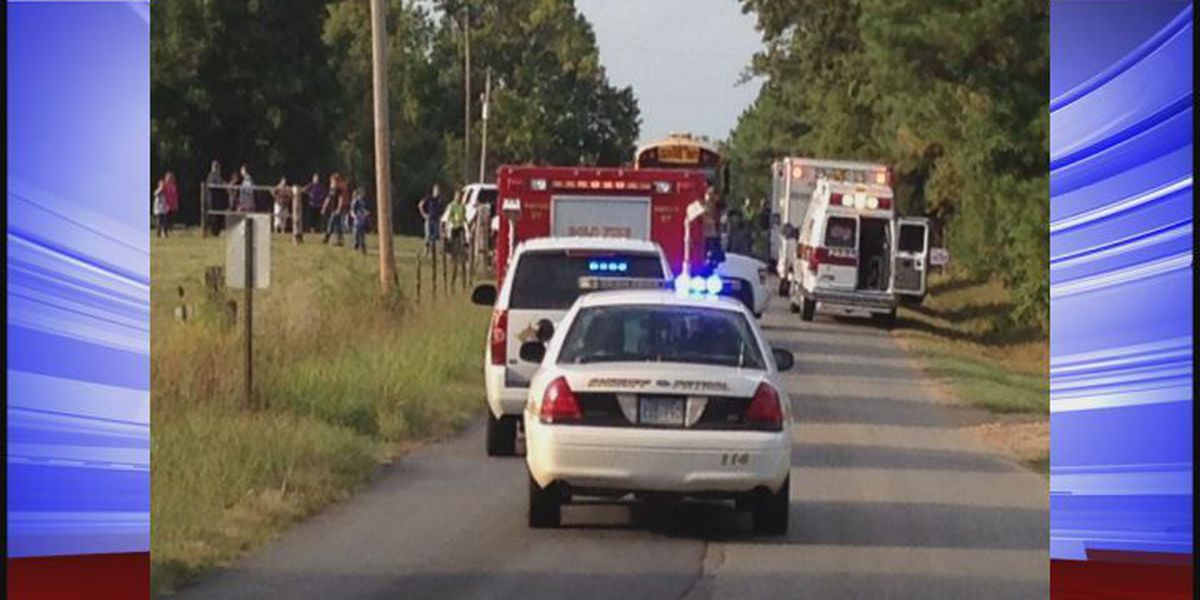11 taken to hospital, 1 arrested after school bus accident