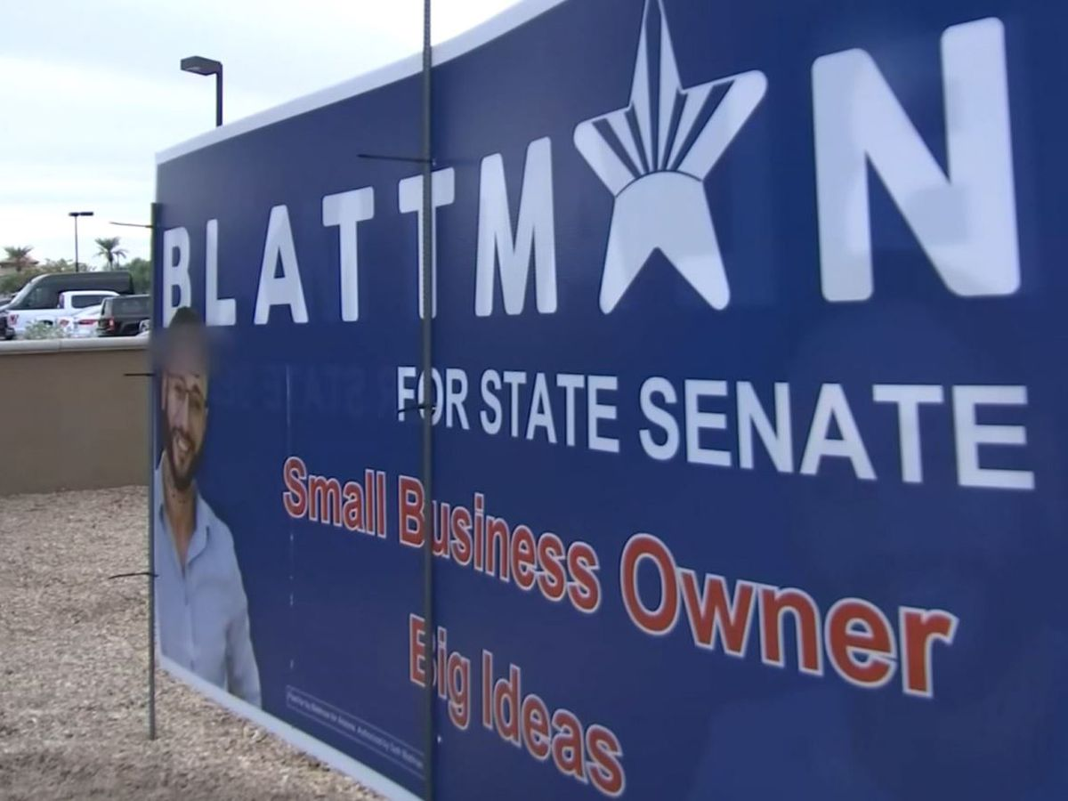 Campaign sign for Jewish candidate in Arizona vandalized with anti-Semitic graffiti