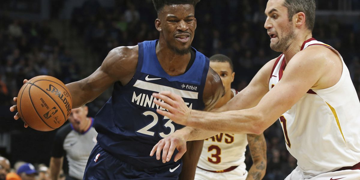 Butler leads T-wolves with 33 points in 131-123 win vs. Cavs