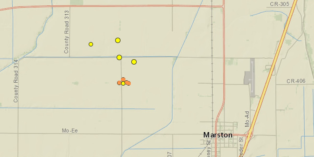 4 earthquakes reported near Marston, Mo.