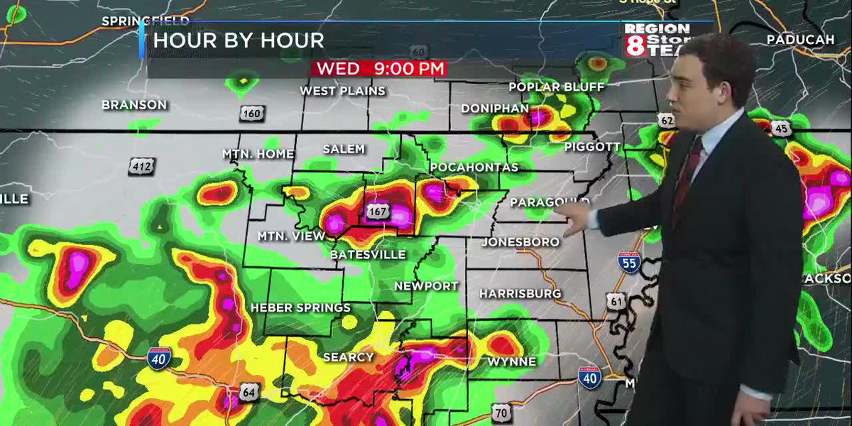 June 19: Strong storms move into Region 8 today
