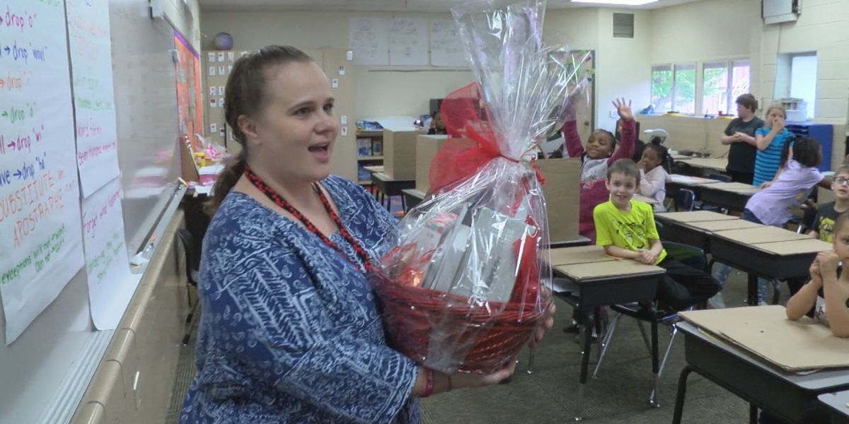 Single mother, second-year teacher named April's Teacher of the Month