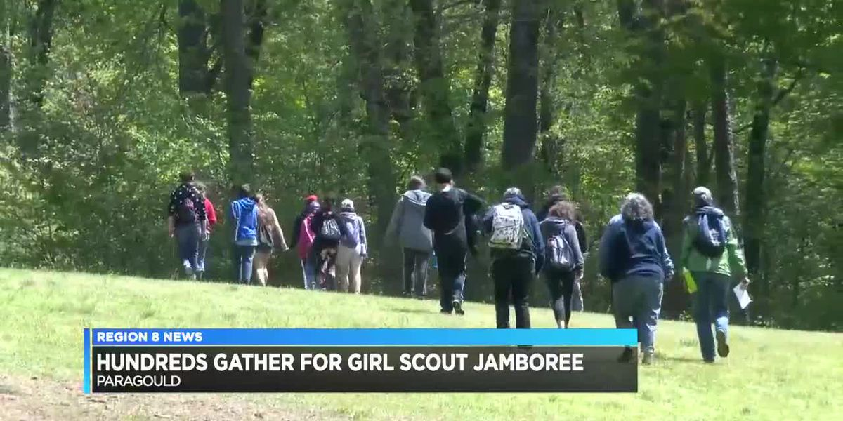 Hundreds of Girl Scouts participate in jamboree event after over one year of canceled events