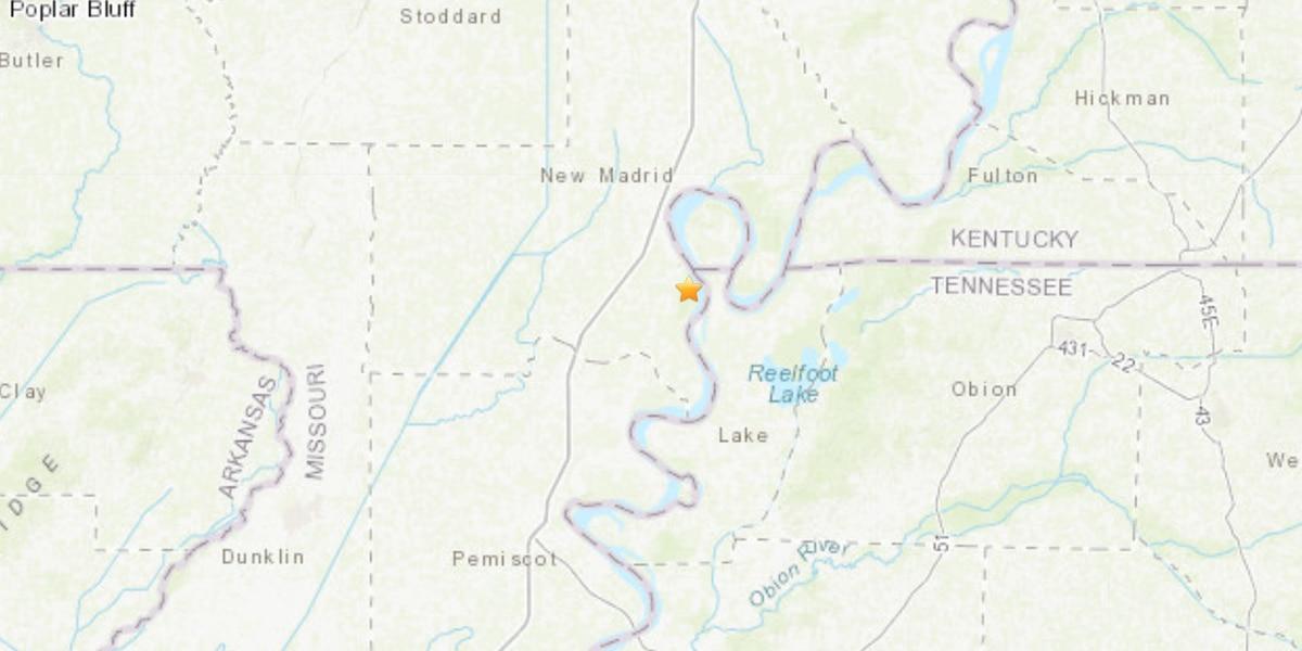 2.8 earthquake hit New Madrid County, Mo.