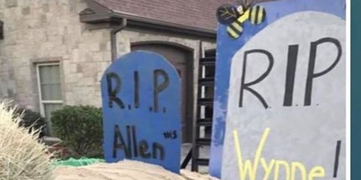 High school apologizes after a homecoming float goes too far, alludes to death of rival football star