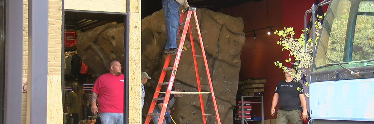 Gearhead donates downtown rock wall to city