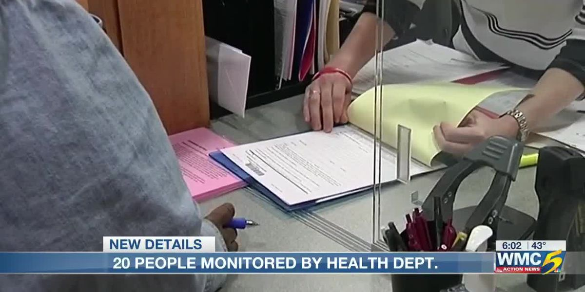 20 people monitored by Shelby County Health Department