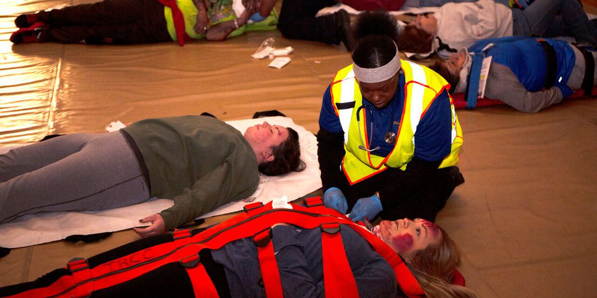 Three Rivers College holds bi-annual mass casualty training