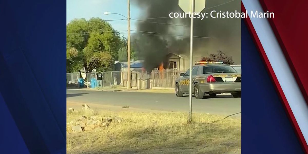 Texas officer runs into burning mobile home to save 8-year-old boy