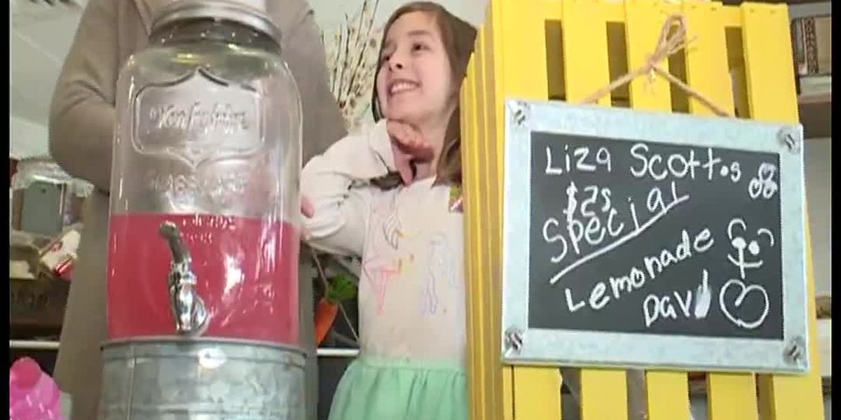 Kid sells lemonade to pay for brain surgery