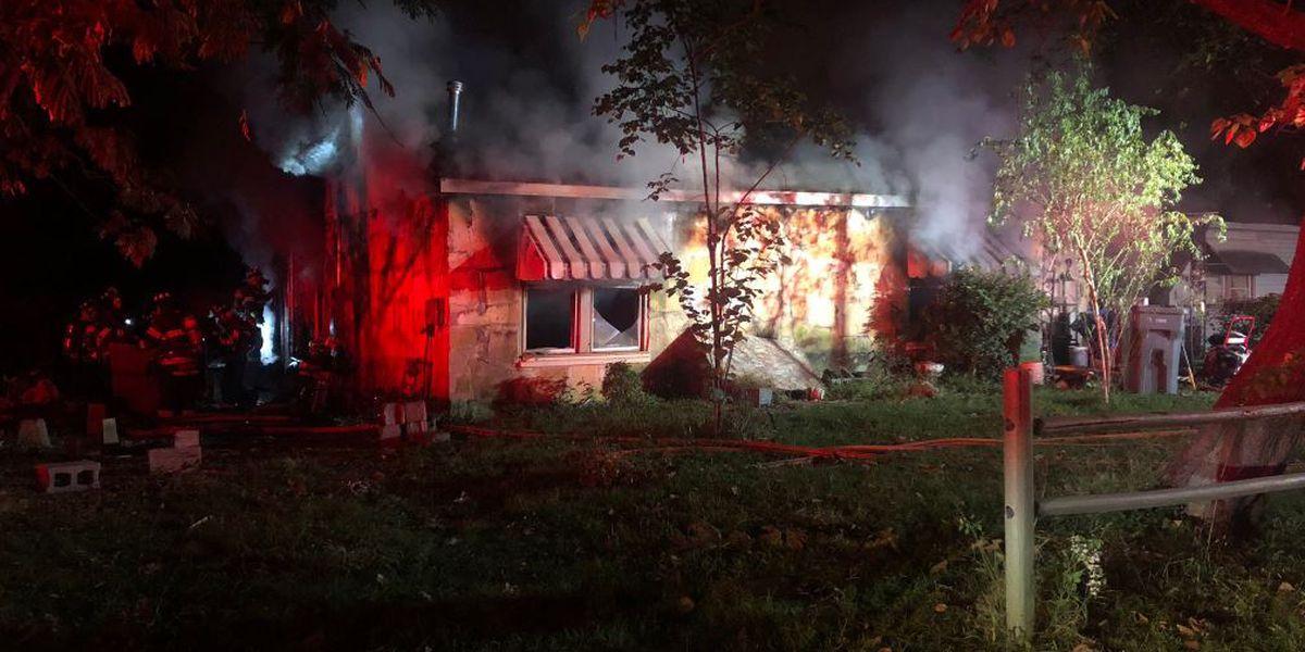 Jonesboro home goes up in flames