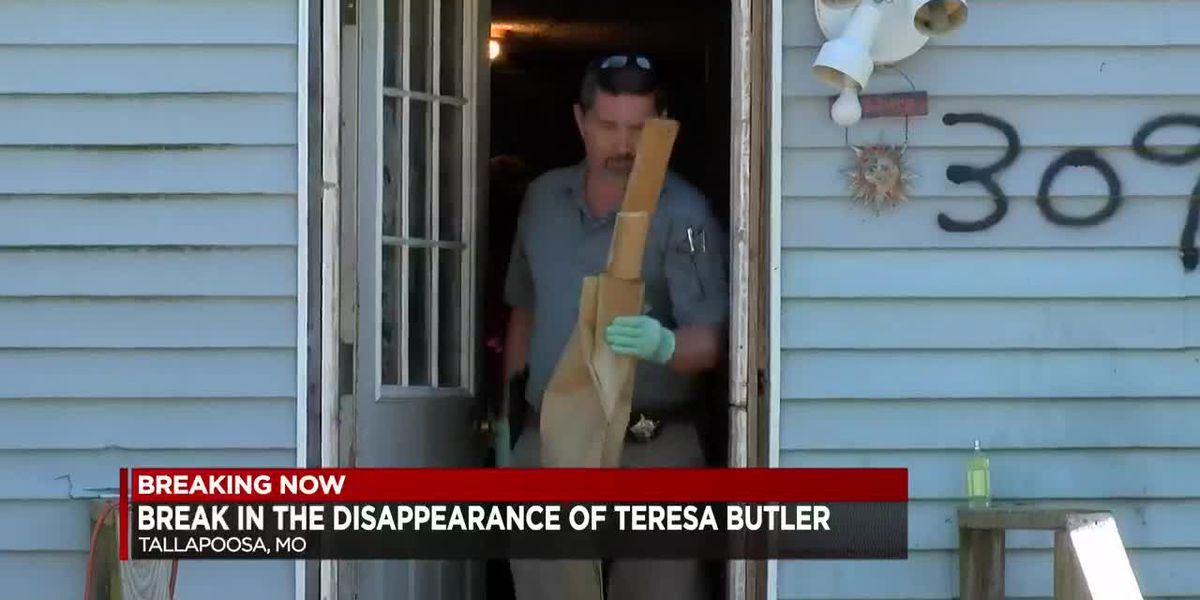 Crews search home for evidence connected to disappearance of Teresa Butler