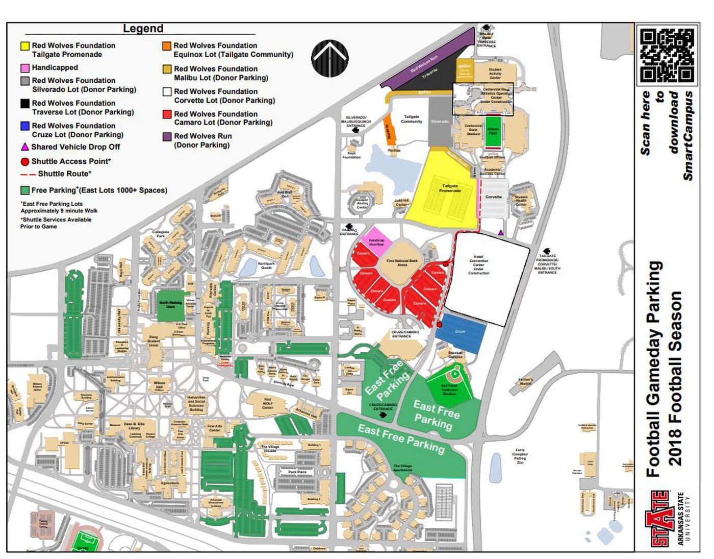 Asu Jonesboro Campus Map.A State Drops 10 Game Day Parking Fee Following Region 8 Report