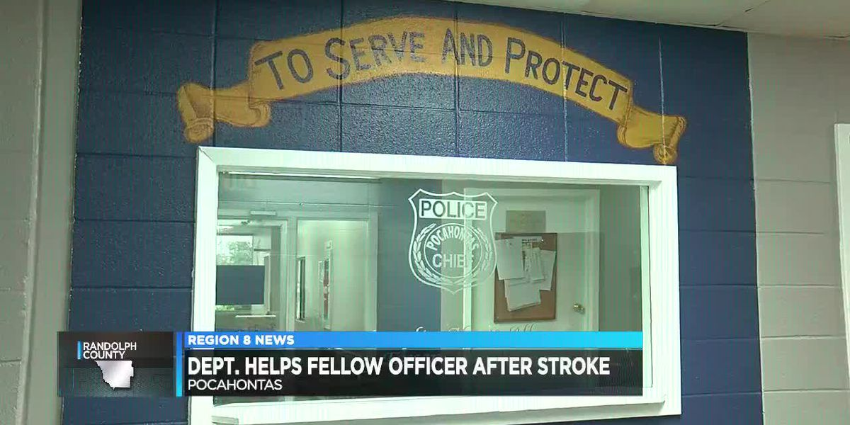 Dept. Helps Fellow Officer After Stroke