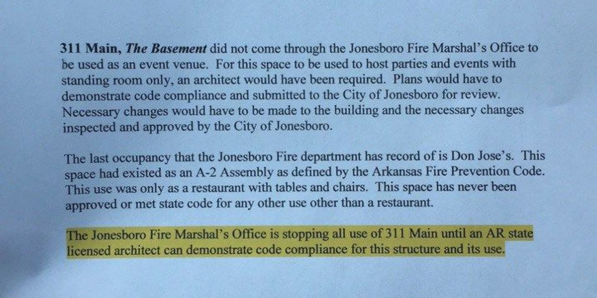 The Basement cited for fire code violation after deadly party