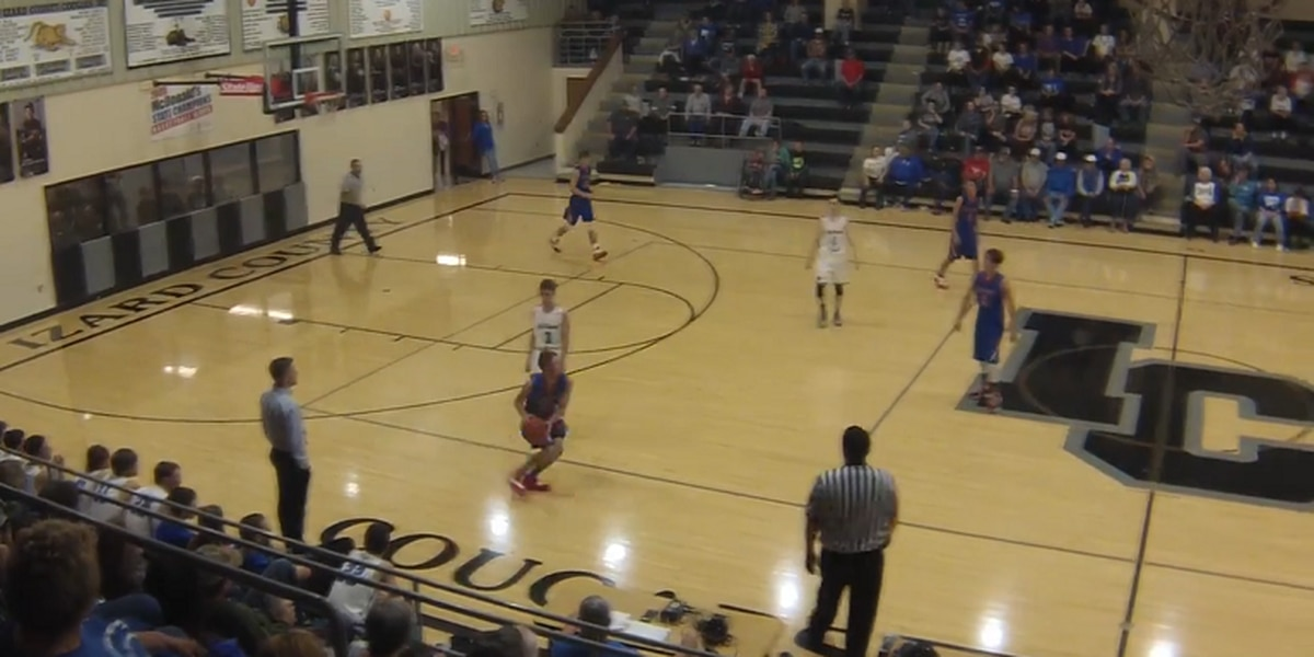 Hillcrest's Houston Netrefa drains one past half court