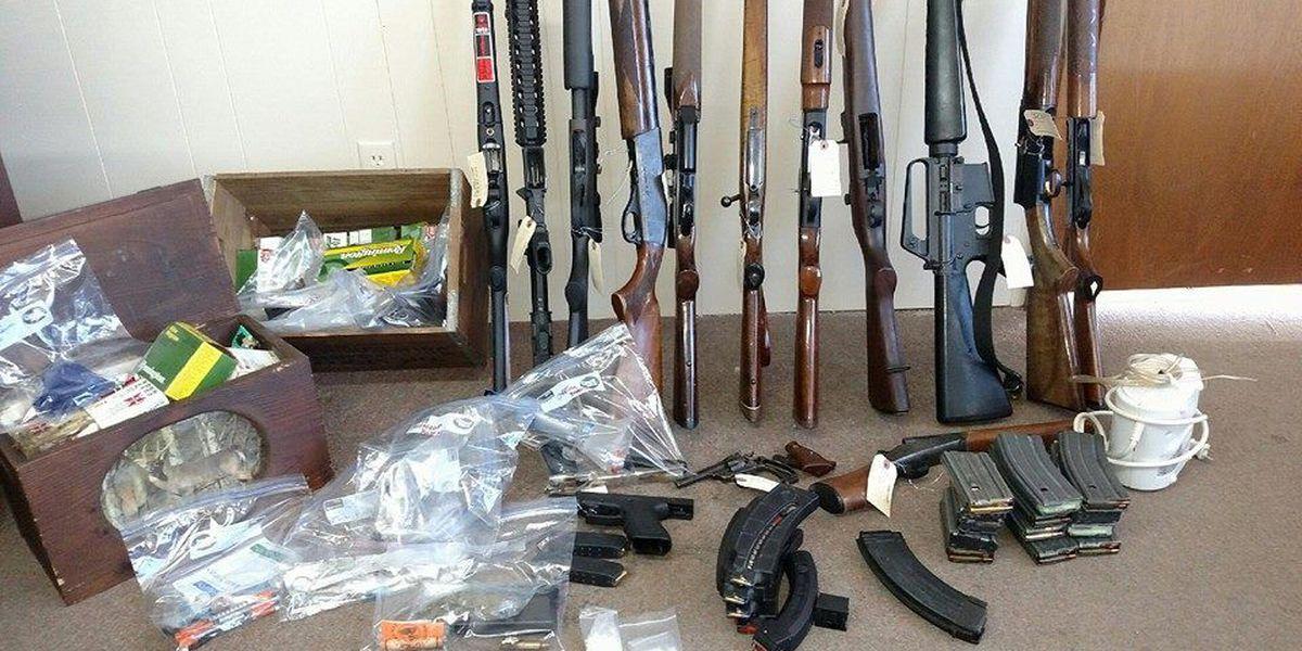 6 arrested in drug, gun bust