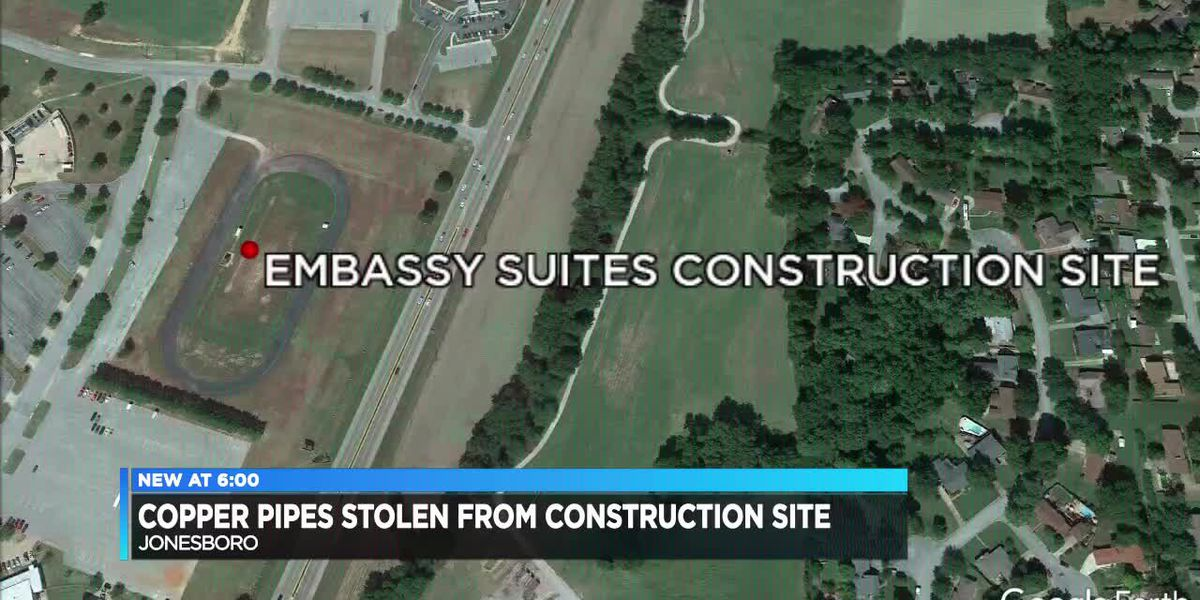 Copper Pipes Stolen From Construction Site