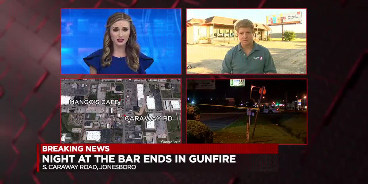 Bar shooting injures man