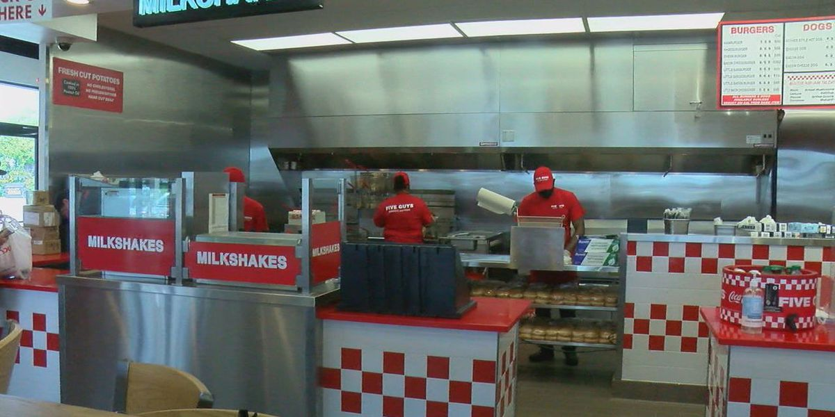 Five Guys back to serving burgers and fries after tornado