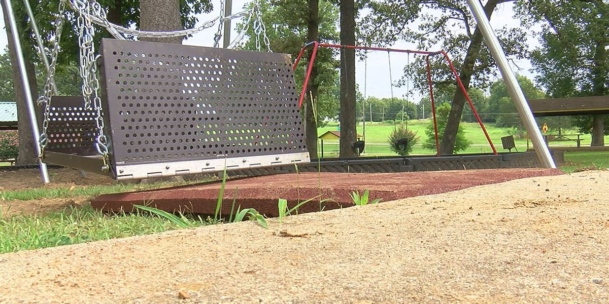 Imboden adds wheelchair accessible swing to park