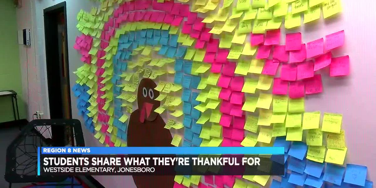 """Students learn lesson in thankfulness, with """"Thankful Turkey"""""""