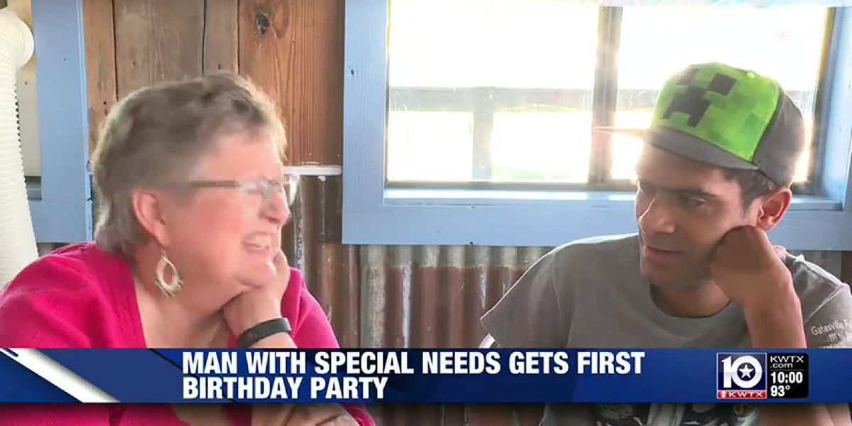 Man with special needs gets first birthday party and new family