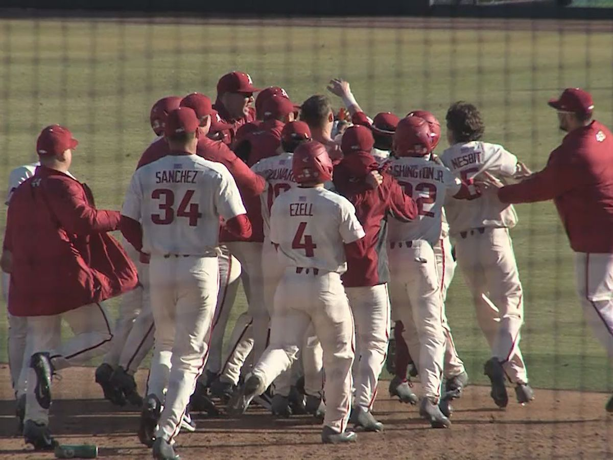 Hogs walk-off Eastern Illinois Sunday to grab series sweep