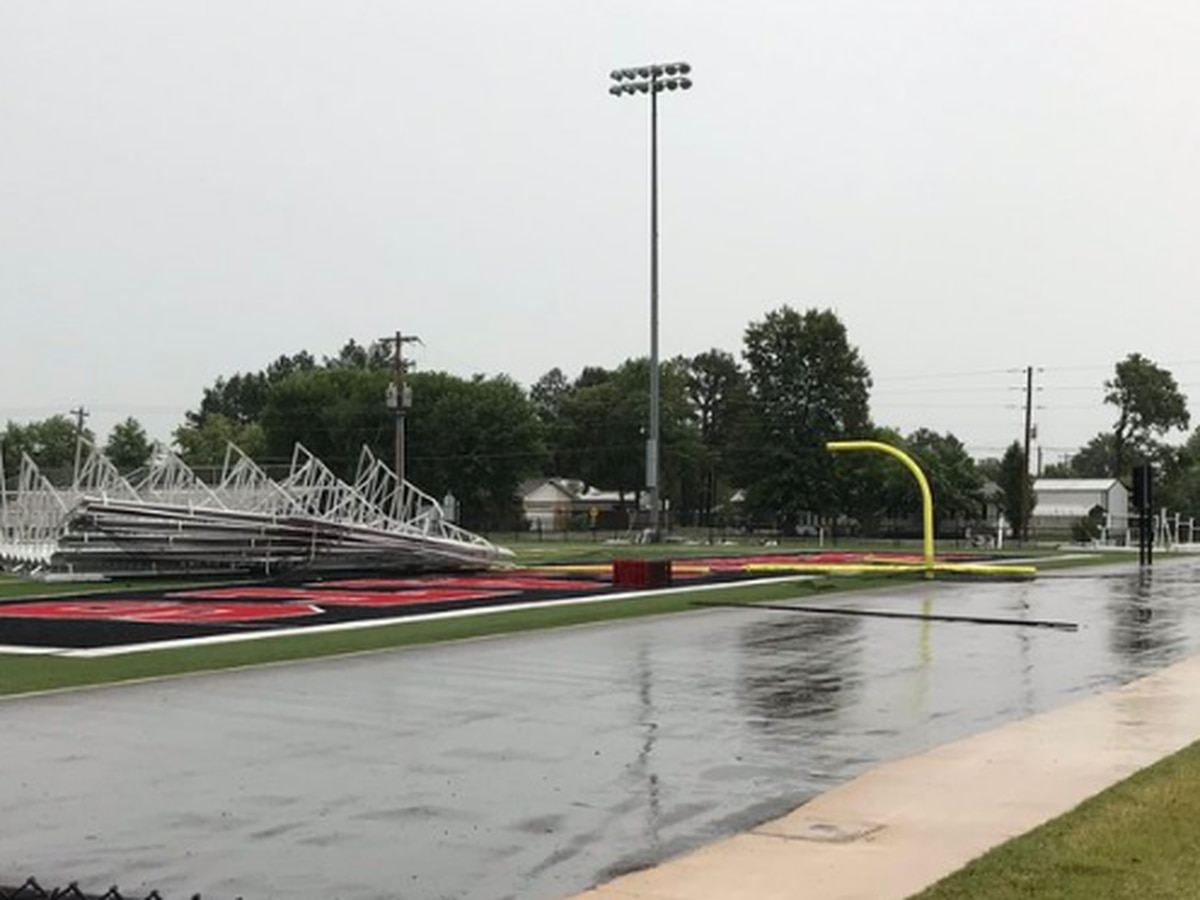 Storms do estimated $50,000 in damage to school's football field