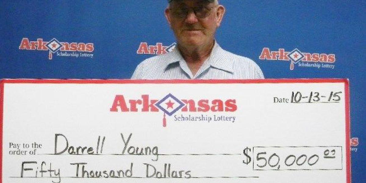 Lottery ticket pays off for Walnut Ridge man
