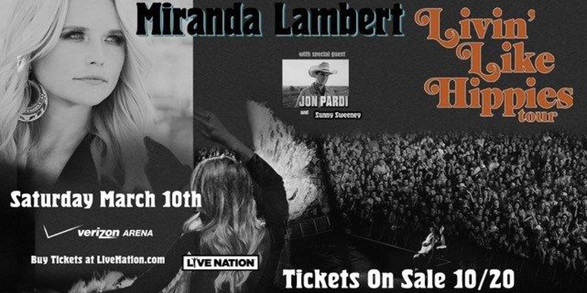 Miranda Lambert brings tour to Arkansas next spring